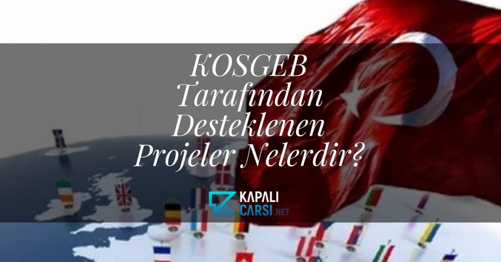 KOSGEB Tarafından Desteklenen Projeler Nelerdir?