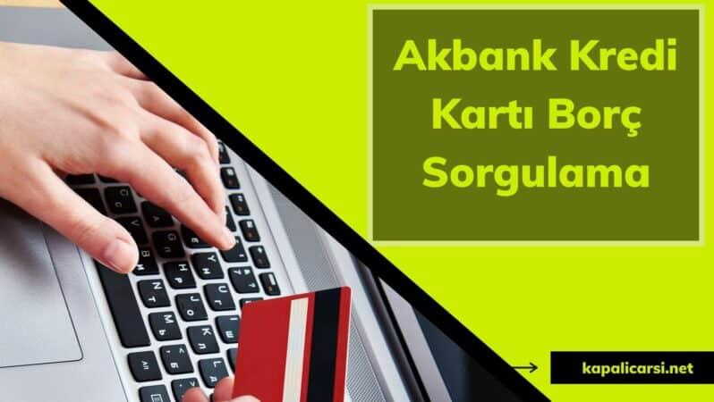Akbank Kredi Kartı Borç Sorgulama