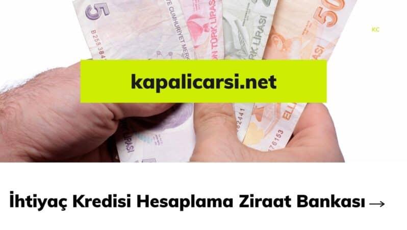 İhtiyaç Kredisi Hesaplama Ziraat Bankası